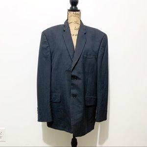 Vintage Ralph Lauren Men's Navy Blue Blazer